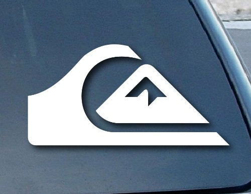 "Quiksilver Surf Car Window Vinyl Decal Sticker 4"" Wide - MyMonkeySticker.com"