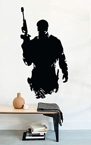 Wall Decals Military Army Silhouette Soldier Call of Duty Decor Stickers Vinyl - MyMonkeySticker.com