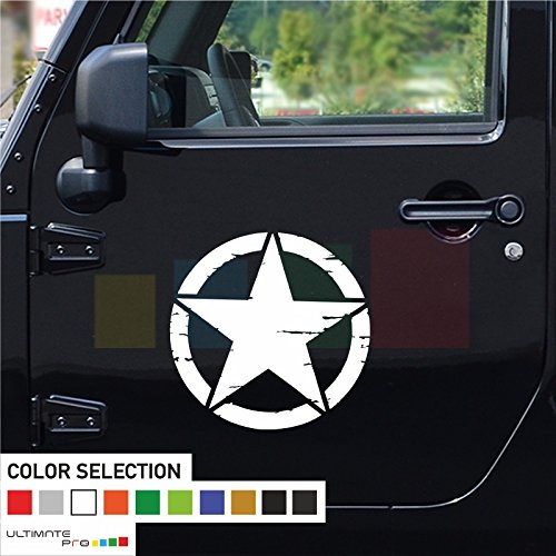 2x Stars Decal sticker Vinyl Compatible with Jeep Wrangler RUBICON - MyMonkeySticker.com