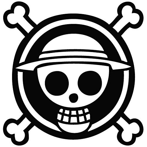 One Piece Anime Logo - Cartoon Decal Vinyl Removable Decorative Sticker for Wall Car Room - MyMonkeySticker.com
