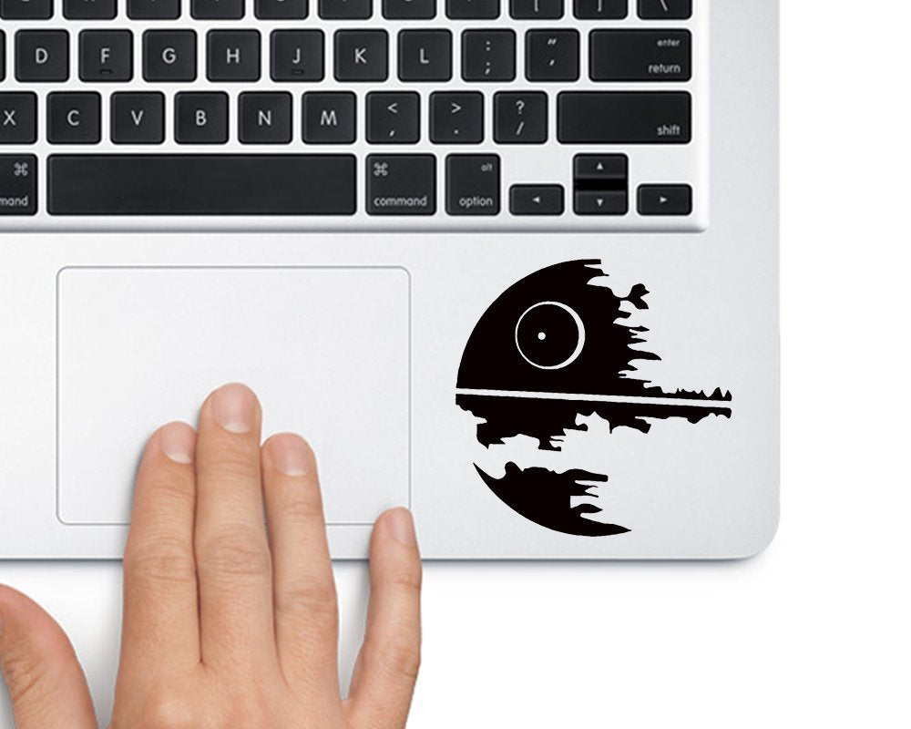 Death Star Simple Star Wars - Trackpad Apple Macbook Laptop Vinyl Sticker Decal - MyMonkeySticker.com