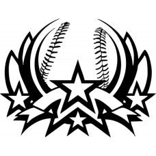 ALL STAR sport Logo Tail Vinyl Decal baseball Game car wall room sticker team MLB - MyMonkeySticker.com