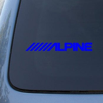 ALPINE  Logo Vinyl Sticker Decal Car Truck Windon Wall Laptop notebook - MyMonkeySticker.com