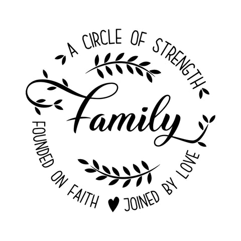 A Circle Of Strength By Love Sticker