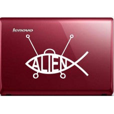 Alien Fish Automobile Decal Car Window Decal Tablet PC Computer Automobile Window Wall Laptop Notebook Ipad cell phone - MyMonkeySticker.com