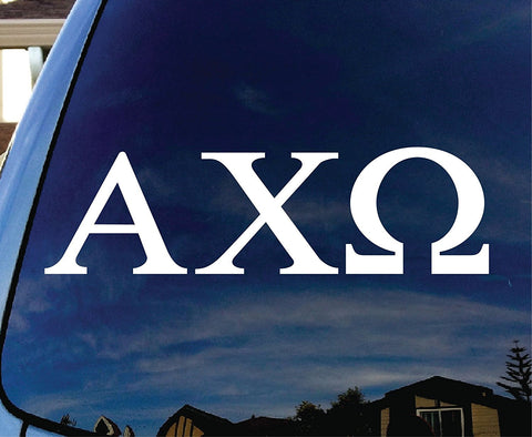 Alpha Chi Omega Sorority  Logo Vinyl Sticker Decal Car Truck Windon Wall Laptop notebook - MyMonkeySticker.com