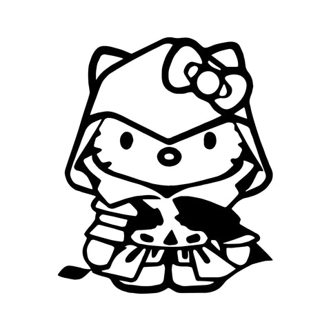 hello kitty black and white  Sticker