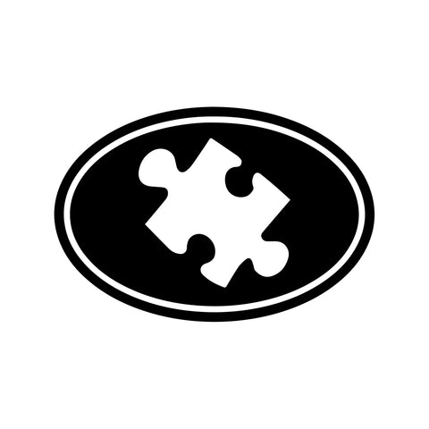Autism Puzzle Piece Oval Decal