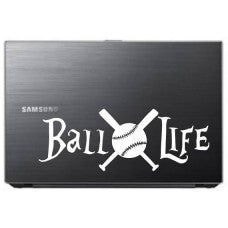 BALL LIFE baseball softball Car Window Vinyl Decal Tablet PC Sticker - MyMonkeySticker.com