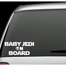 Baby Jedi on Board Decal Sticker Inspired By Star Wars car wall - MyMonkeySticker.com