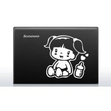 Baby in Car (Style # 4) Automobile Car Window Decal Tablet PC Sticker Automobile Window Wall Laptop Notebook Etc. Any Smooth Surface - MyMonkeySticker.com