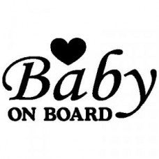 Baby on Board Letter Automobile Car Window Decal Tablet PC Sticker Automobile Window Wall Laptop Notebook Etc. Any Smooth Surface - MyMonkeySticker.com