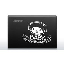 Baby on Board (Style # 2) Automobile Car Window Decal Tablet PC Sticker Automobile Window Wall Laptop Notebook Etc. Any Smooth Surface - MyMonkeySticker.com