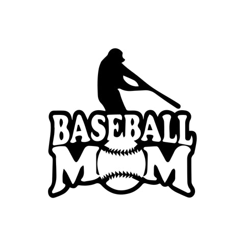 Baseball Mom Decal Sticker