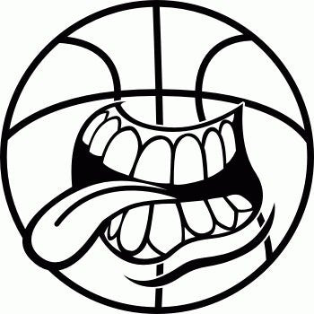 Basketball Mouth  Vinyl Car/Laptop/Window/Wall Decal - MyMonkeySticker.com