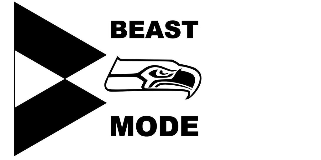 Beast Mode Marshawn Lynch Seahawks Vinyl Car Decal - MyMonkeySticker.com