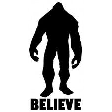 Bigfoot Yeti Bealieve Decal Car Truck 4x4 Sasquatch Jeep Sticker Vinyl Jeep Off Road - MyMonkeySticker.com