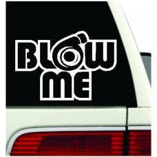Blow Me Turbo Decal Funny Car Truck Vinyl Sticker JDM Racing Window Decal - MyMonkeySticker.com