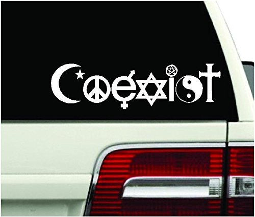 COEXIST Peace religion Hippie Evolution Harmony JIM JAM Decal sticker car truck bumper - MyMonkeySticker.com
