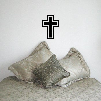 CROSS Christian Vinyl Wall Room Decal Sticker Jesus God - MyMonkeySticker.com