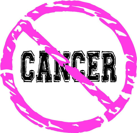 Pink Breast Cancer Circle Awareness Ribbon Decal Sticker For Car Windows, Pc, Laptop, book, wall, Room, Truck - MyMonkeySticker.com