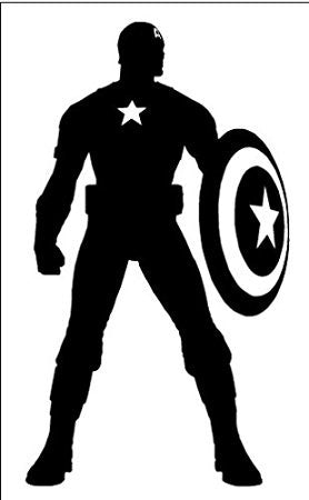 Captain America Silhouette Logo Vinyl Car Laptop Window Wall Decal - MyMonkeySticker.com