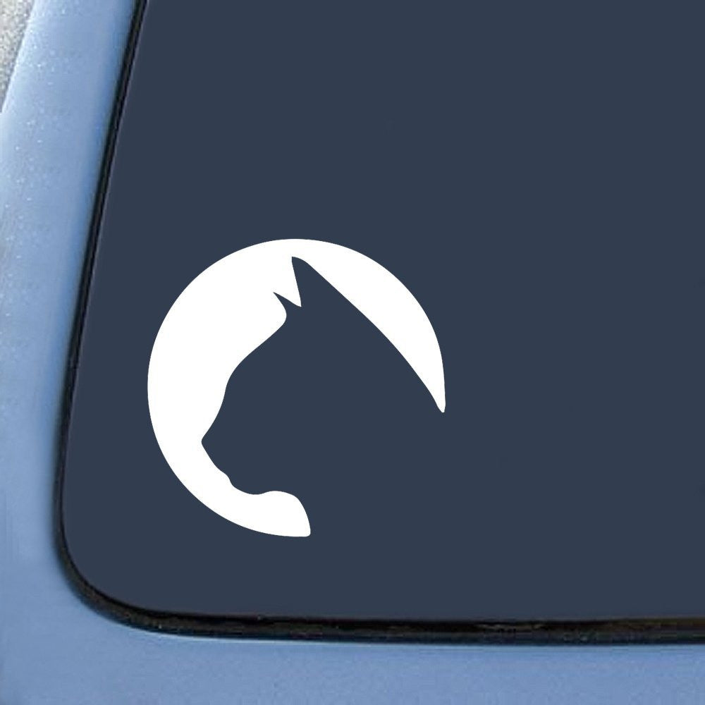 Cat Circle Silhouette  Car Window Ipad Tableet PC Notebook Cumputer Decal Sticker - MyMonkeySticker.com