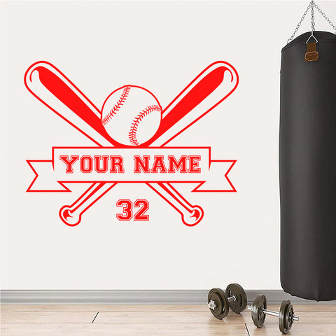 Custom Baseball Black And White Png Vinyl Decal Gym Wall Window Sticker