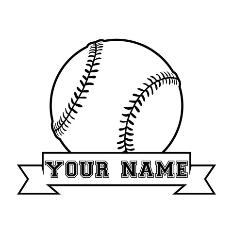 Custom Baseball Clipart Stickers