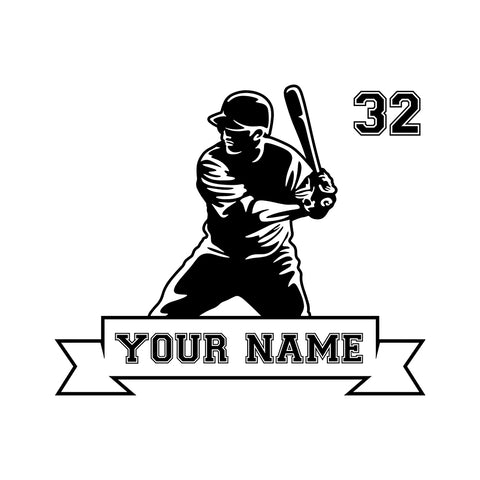 Custom Baseball Jerseys Png Vinyl Decal Car Window Wall Laptop Sticker