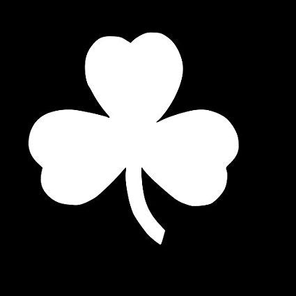 Shamrock Vinyl Car/Laptop/Window/Wall Decal - MyMonkeySticker.com