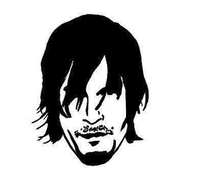Daryl Dixon Walking Dead  Vinyl Car/Laptop/Window/Wall Decal - MyMonkeySticker.com