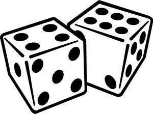 Dice Gambling  Vinyl Car/Laptop/Window/Wall Decal - MyMonkeySticker.com