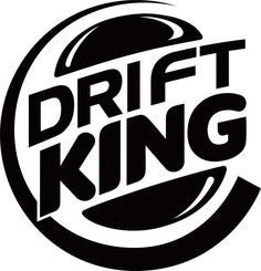 Drift King Vinyl Car Decal - MyMonkeySticker.com