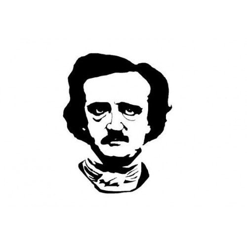 Edgar Allan Poe Die-Cut Decal Sticker Car Window Wall Bumper Phone Laptop - MyMonkeySticker.com