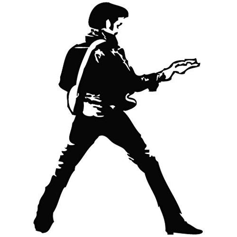 Elvis Presley Guitar Dance Decal Sticker Vinyl Car Wall Laptop Cellphone - MyMonkeySticker.com
