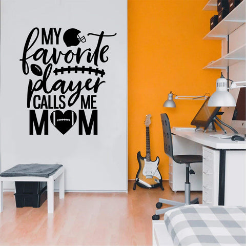 Favorite Player Mom Vinyl Decal Soccer Stickers