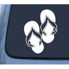 Flip Flops Car Window Vinyl Decal Tablet PC Sticker - MyMonkeySticker.com