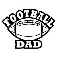 Football Dad Vinyl Car Decal - MyMonkeySticker.com