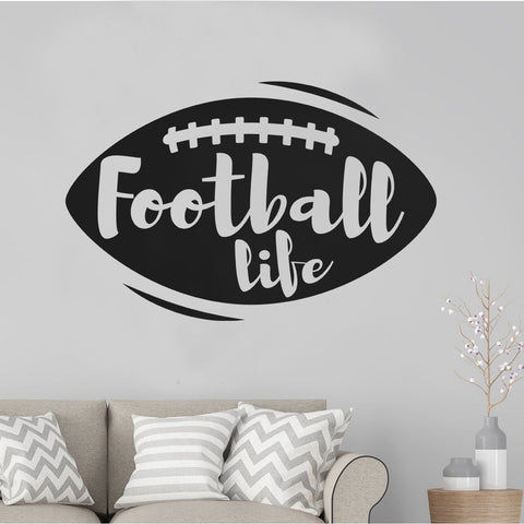 Football Life Vinyl Decal Soccer Stickers For cars Laptops walls jeep