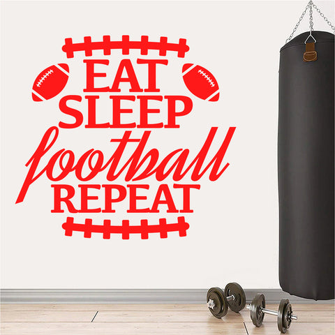 Eat Sleep Football Repeat with stickers player and life size
