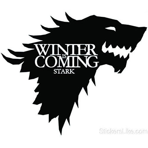 Game of Thrones House Baratheon Stark vinyl Sticker decal HBO Winter is Coming - MyMonkeySticker.com