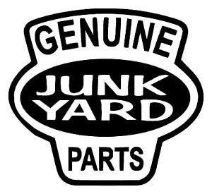 Genuine Junk Yard Parts Vinyl Car/Laptop/Window/Wall Decal - MyMonkeySticker.com