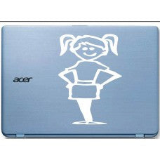 Girl Car Window Vinyl Decal Tablet PC Sticker - MyMonkeySticker.com