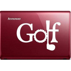 Golf Letter Automobile Decal Car Window Decal Tablet PC Computer Automobile Window Wall Laptop Notebook Ipad cell phone - MyMonkeySticker.com