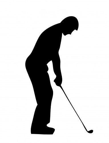 Golfer Silhouette  Vinyl Car Laptop Window Wall Decal - MyMonkeySticker.com
