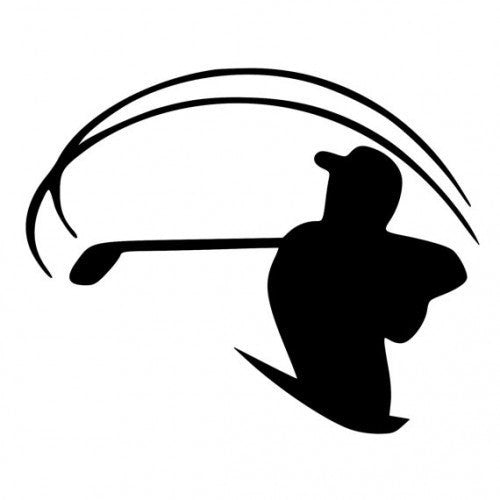 Golfer Swinging Club Die-Cut Decal Sticker Car Window Wall Bumper Phone Laptop - MyMonkeySticker.com