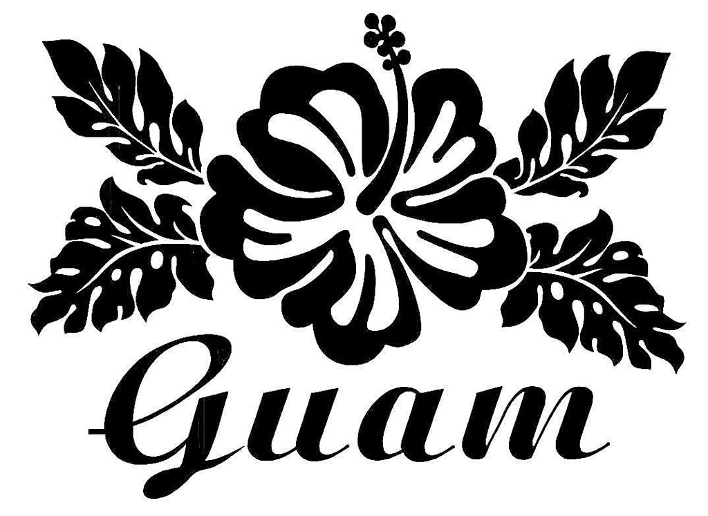 Guam Flower  Vinyl Car/Laptop/Window/Wall Decal - MyMonkeySticker.com