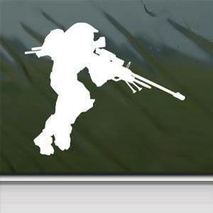 Halo 3 Sticker Decal Spartan Sniper Pc Xbox 360 White Car Window Wall Macbook Notebook Laptop Sticker Decal - MyMonkeySticker.com