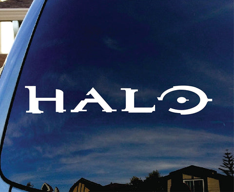 Halo Logo Car Window Vinyl Decal Sticker - MyMonkeySticker.com